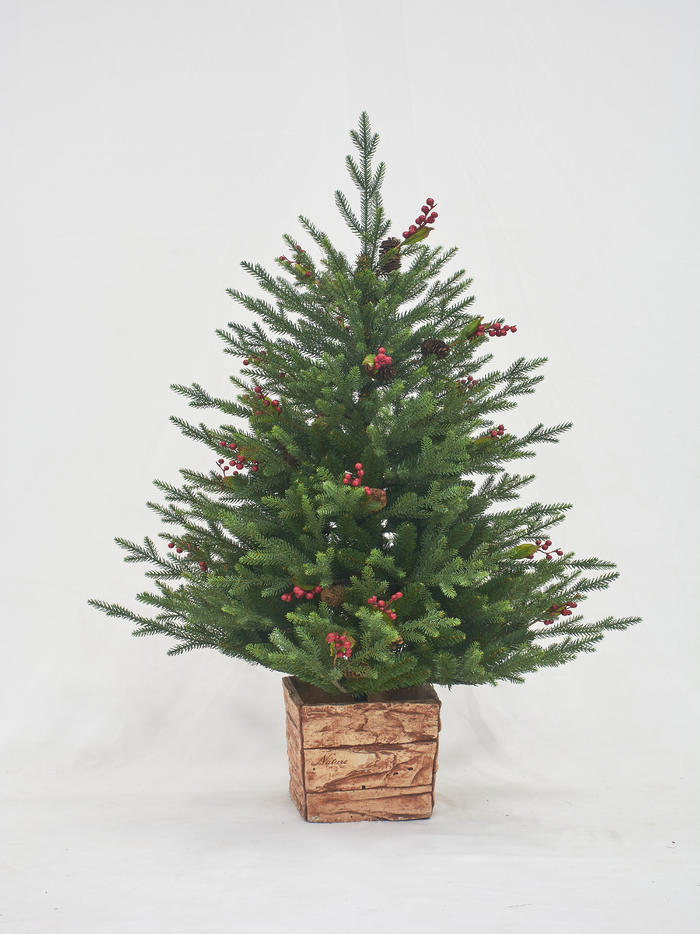 4ft pot PE/PVC christmas tree