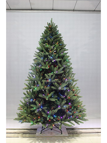 SYT76A004/7.5FT Winchester Spruce Fiber optic Led pre-lit Dancing Artificial Christmas tree