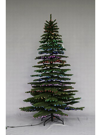 SYT76D107/7.5Ft Led pre-lit Starry-sky Fiber optical Dancing Artificial Christmas Tree