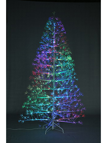 SYT76G086/7.5FT Led pre-lit Fiber optic Dancing Leafless Christmas Tree